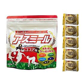 Sữa Asumiru Nhật Bản 180g ( vị cacao ) - Phát triển Chiều Cao Vượt Trội ( cho bé 3-16 tuổi ) – Tặng 05 bán quy Nhật Bản hiệu Aee