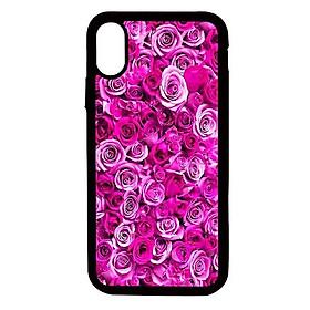 Ốp lưng cho điện thoại Iphone Xs Max Hoa hồng - Hàng chính hãng