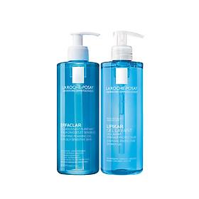 Bộ đôi gel rửa mặt Gel Rửa Mặt Làm Sạch & Giảm Nhờn Cho Da Dầu Nhạy Cảm La Roche-Posay 400ml và gel tắm Lipikar 400ml
