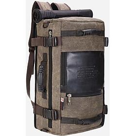 Balo nam vải canvas chống nước cao cấp, có quai xách và đeo tiện dụng đi du lịch và chứa đồ