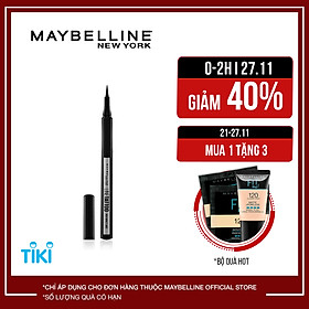 Bút Kẻ Mắt Nước Lâu Trôi 36H Không Thấm Nước Maybelline New York Line Tattoo High Impact Liner 1g