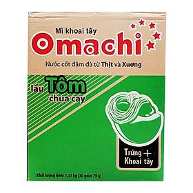 Thùng 30 Gói Mì Omachi Lẩu Tôm (78gr/Gói)