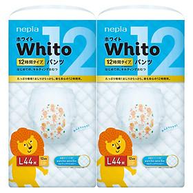 Bộ 2 Tã quần siêu cao cấp Nhật Bản Whito (L, 44 miếng)-0