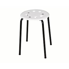 Ghế đôn tròn mặt nhựa, chân sắt sơn tĩnh điện cao cấp Song Long- màu ngẫu nghiên