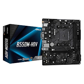Bo mạch chủ Mainboard ASRock B550M-HDV Supports 3rd Gen AMD AM4 Ryzen - Hàng Chính Hãng