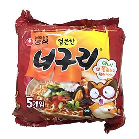 Lốc 5 Gói Mì Neoguri Cay Nóng Hàn Quốc Nongshim 120G X 5