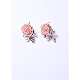 Bông tai hoa hồng xinh xắn bthh409