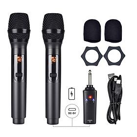 [Không Dây] Bộ 2 Mic Wireless Pin Sạc Gitafish K380S - Micro Cầm Tay Vocal Microphone Karaoke Portable Hàng Chính Hãng