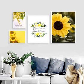 Bộ tranh ảnh treo tường hoa vàng KA199