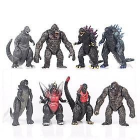 Sét 08 Mô Hình Nhân Vật Godzilla vs Kong Trong Chúa Tể Godzilla - Mẫu 2