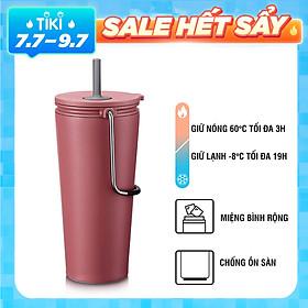 Bình giữ nhiệt có ống hút Lock&Lock Bucket Tumbler with Straw LHC4268