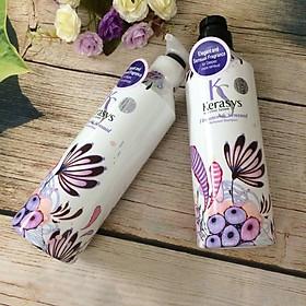 Dầu xả nước hoa Kerasys Elegence & Sensual hương violet và xạ hương Hàn Quốc 600ml tặng kèm móc khoá-4