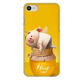 Ốp lưng nhựa cứng nhám dành cho iPhone 7 in hình Heo Cute
