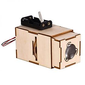 Bộ đồ chơi khoa học tự làm máy chiếu slide mini bằng gỗ – DIY Wood Steam