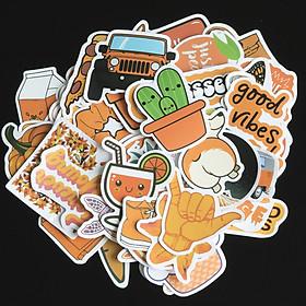 10 miếng Sticker nhiều  chủ đề  dán vali, nón bảo hiểm, đàn,guitar, ukulele, laptop, điện thoại chống nước lâu phai