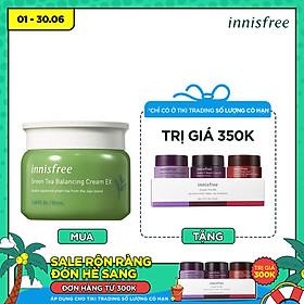 Kem dưỡng ẩm từ trà xanh đảo Jeju Innisfree Green Tea Balancing Cream EX 50ml - NEW