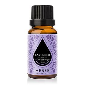 Tinh Dầu Oải Hương Lavender Essential Oil Heber | 100% Thiên Nhiên Nguyên Chất Cao Cấp | Nhập Khẩu Từ Ấn Độ | Kiểm Nghiệm Quatest 3 | Xông Thơm Phòng | Hương Dịu Nhẹ