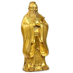 Tượng Khổng Tử bằng đồng thau phong thủy mưu lược và trí tuệ
