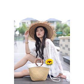 Nón cỏ bàng thời trang  du lịch