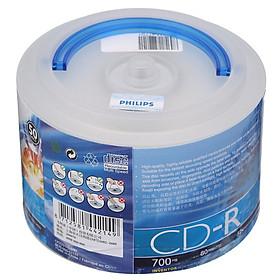 Hộp 50 Đĩa Trắng CD-R 52 speed PHILIPS