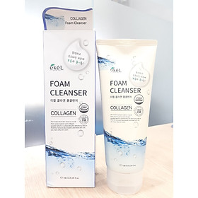 Sữa rửa mặt Collagen - Ekel Foam Cleanser Collagen 180ml (Tặng 2 mặt nạ Jant Blanc)