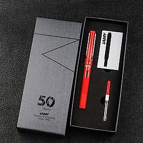 Bộ Quà Tặng Bút Mực Cao Cấp Lamy Safary - Shiny Red (Paper Box + Túi Giấy)