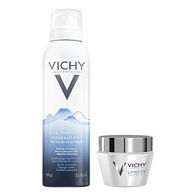 Bộ chăm sóc da Kem Dưỡng Chống Nhăn Và Săn Chắc Da Ban Ngày Vichy Liftactiv Supreme (50ml) + Nước Khoáng Vichy Mineralizing Water 150ml