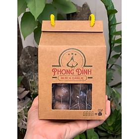 Tỏi đen một nhánh nguyên vỏ Phong Đỉnh, hộp 200gr có 4 gói nhỏ bên trong, tiện lợi và đảm bảo chất lượng tỏi đen trong quá trình sử dụng