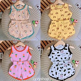Lyvyshop - (Thanh lý lẻ size) Bộ quần áo sát nách cho bé trai, bé gái siêu dễ thương từ 09-25kg