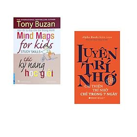 Combo 2 cuốn sách: Tony Buzan - Các Kỹ Năng Học Giỏi +  Luyện Trí Nhớ