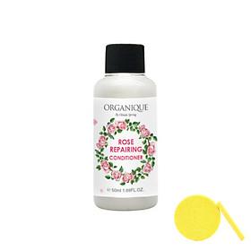 Dầu Xả Organique Dưỡng Tóc Hoa Hồng Rose Repairing Conditioner Mini Size (50ml) - - Tặng Kèm Mút Rửa Mặt
