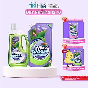 Combo Nước lau sàn Maxkleen Chai + Túi hương Ban mai thanh mát 1kg