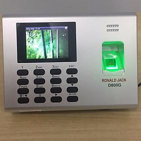 Máy chấm công vân tay + vân tay + pin lưu điện Ronal Jack D800G - hàng nhập khẩu