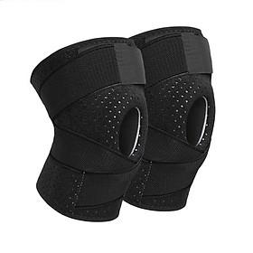 Bộ 2 đai bảo vệ đầu gối có lò xo trợ lực hỗ trợ khớp gối Sport Knee Pad AOLIKES YE-7908 - Hàng Chính Hãng