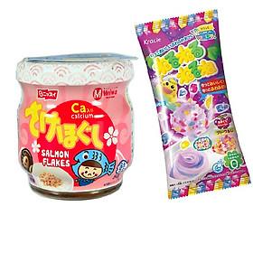Ruốc cá hồi Meiwa vị ít muối cho bé và gia đình  - Tặng 1 gói kẹo popin cookin vị grape