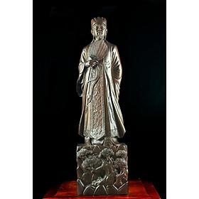 Tượng gỗ mỹ nghệ- Khổng Minh tiên sinh- gỗ mun hoa