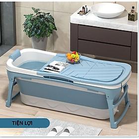 Bồn tắm silicon gấp gọn có nắp cho cả người lớn và trẻ em đủ size - chậu tắm gấp gọn có nắp