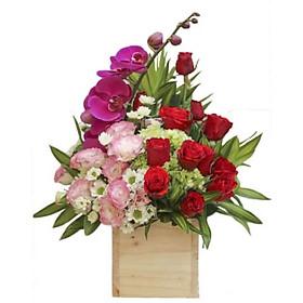 Hộp hoa tươi - Hôn Bờ Mi Xa 2971