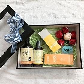 Quà tặng cho mẹ bầu & sau sinh - Combo chăm sóc sức khỏe và cơ thể toàn diện cho mẹ bầu và sau sinh hoàn toàn thiên nhiên từ COCAYHOALA - Giữ ấm, Sạch Khuẩn, Phòng cảm cúm