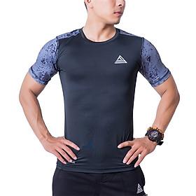 Áo Tập Gym Nam Fitme Slimfit Extreme Tay Ngắn - FAGMSLEN-DX (đen-xám)