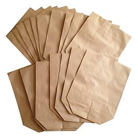 100 Túi giấy Kraf , giấy xi măng gói quà gói hàng nhiều kích thước cao cấp