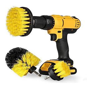 Bộ 3 đầu cọ bàn chải gắn máy Khoan cầm tay - Dụng cụ vệ sinh nhà cửa lốp xe thông minh