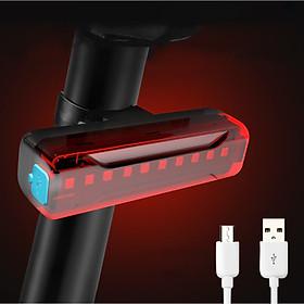 Đèn đuôi nhấp nháy đèn cảnh báo sau cho xe đạp thể thao màu đỏ A02 siêu sáng, chống nước, thời gian sáng lên đến 200h Mai Lee