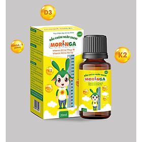 Dầu chùm ngây Sachi Moringa 20ml - Bổ sung Vitamin D3 và K2 tăng hấp thu Canxi, phát triển chiều cao, chống còi xương - Lọ 20ml