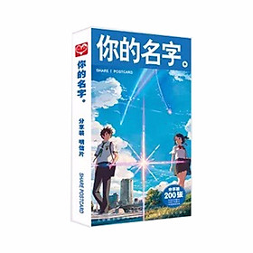 (BÌA NGẪU NHIÊN) Hộp ảnh POSTCARD mẫu mới KIMI NO NA WA - YOUR NAME anime