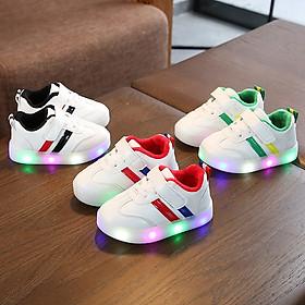 Giày thể thao cho bé trai bé gái có đèn Led 2 sọc