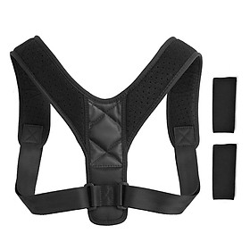 Posture Corrector with Shoulder Pads Men Women Adjustable Back Trainer Shoulder Straps Back Brace Support-0