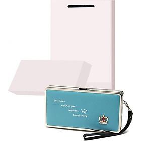 Bộ quà tặng ví / bóp nữ cao cấp có hộp túi trắng kèm theo