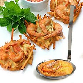 Bộ 3 Khuôn Inox Làm Bánh Tôm ( Inox 304 Dày Cao Cấp)