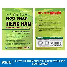 Sách - Ngữ Pháp Tiếng Hàn Thông Dụng Trình Độ Trung Cấp - Korean Grammar in use Intermediate - Học Kèm App Online